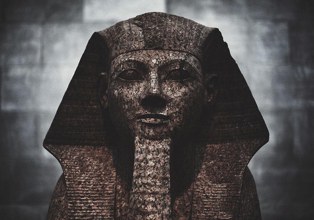 Egyptisk staty Farao