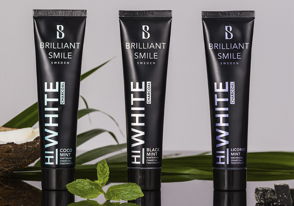HiWhite Charcoal toothpaste flavors