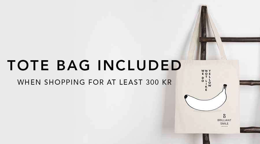 Tote bag included when you shop for at least 300 kr!