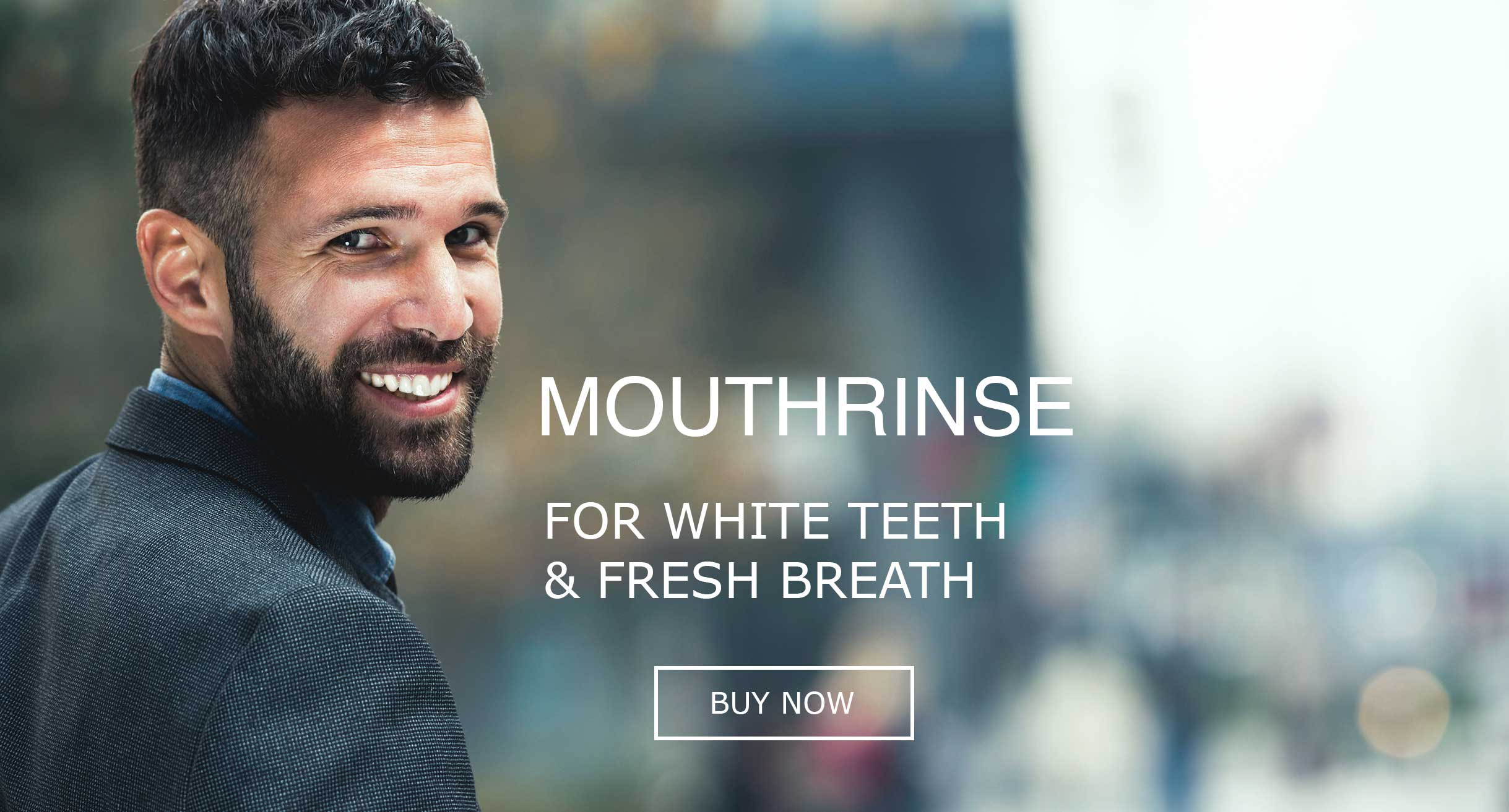 Mouthrinse for white teeth and fresh breath